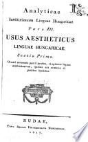 Analyticae 3 (1817)