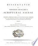 Dissertatio 1822